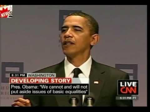 President Obama tells the story of PFLAG