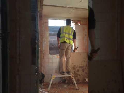 Builder dances like no one's watching
