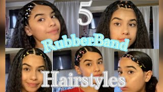 5 Easy RubberBand hairstyle ||tutorial!