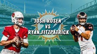 Josh Rosen vs. Ryan Fitzpatrick   PFF