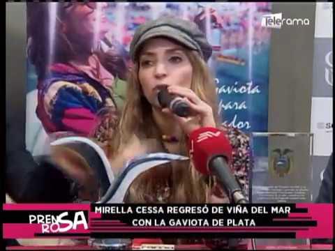 Mirella Cessa regresó de Viña del Mar con la Gaviota de Plata