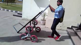 Final year project. Mechanical engineering, good project, stair climbing trolley. thumbnail