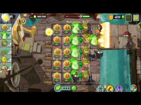 Plants Vs Zombies 2 Mares Piratas Dia 12,13,14