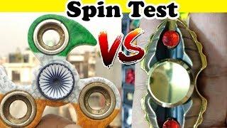 Made In India Fidget Spinner VS Third Eye Fidget Spinner | Spin Test | By Tech India Tips