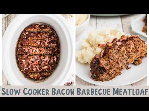 Slow Cooker Bacon Barebcue Meatloaf