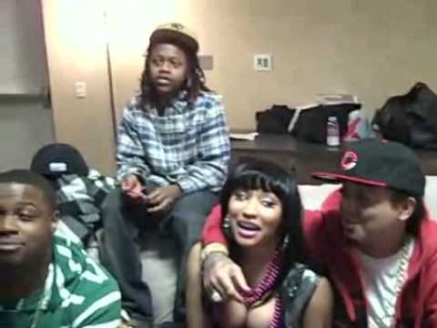 Nicki Minaj  Jae Millz  Gudda  Lil Chuckee  Drake  Mack Maine T Streetz  Young Money  Wallin Out Backstage In St  Louis  That Lil Nicca Is Corrupted