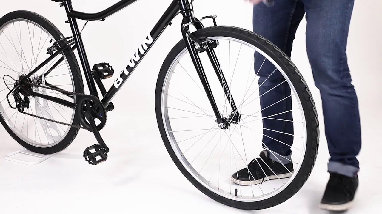 13d293248 Demonter roue avant RIVERSIDE BTWIN 2017 - YouTube