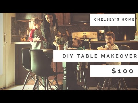 $100 DIY KITCHEN TABLE MAKEOVER / BUDGET FRIENDLY/ HOW TO/ 2019