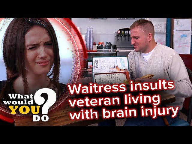 Waitress insults veteran living with brain injury | WWYD - What Would You Do?
