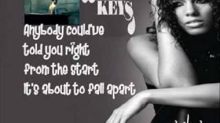 Alicia Keys - Try Sleeping with A Broken Heart (HQ) with lyrics