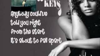 Alicia Keys - Try Sleeping with A Broken Heart (HQ) with lyrics