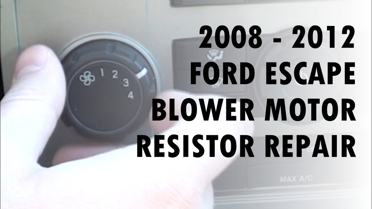2008 2012 ford escape blower only works on high resistor
