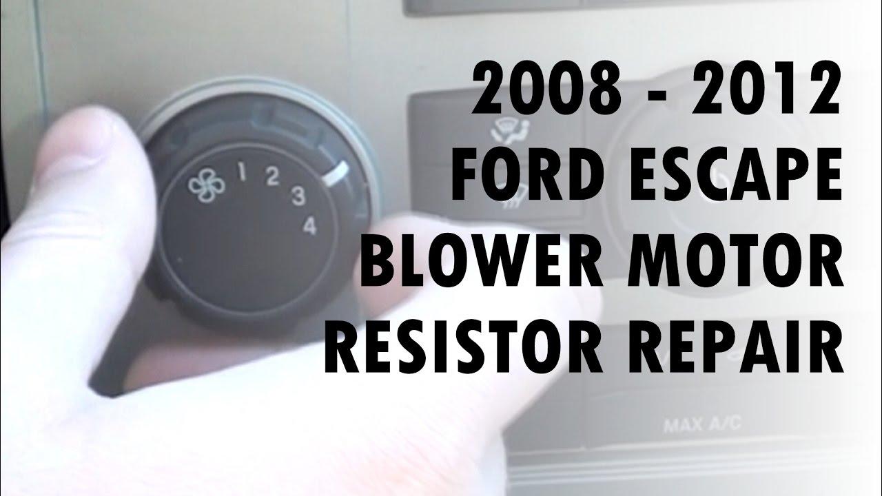 Ford Escape Blower Motor Resistor Repair