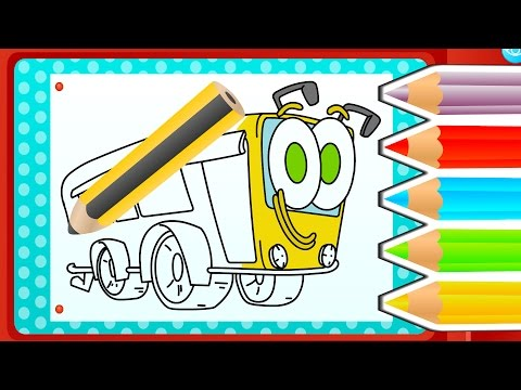How to color SCHOOL BUS | Funny Gameplay Color A Drawing ❤️ Interactive App to learn by playing