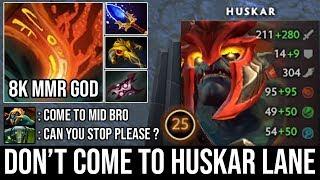 Crazy 8000 MMR Huskar Spammer Toying Enemy Midlaner & Ganker | Super Annyoing Hero 23Kills DotA 2