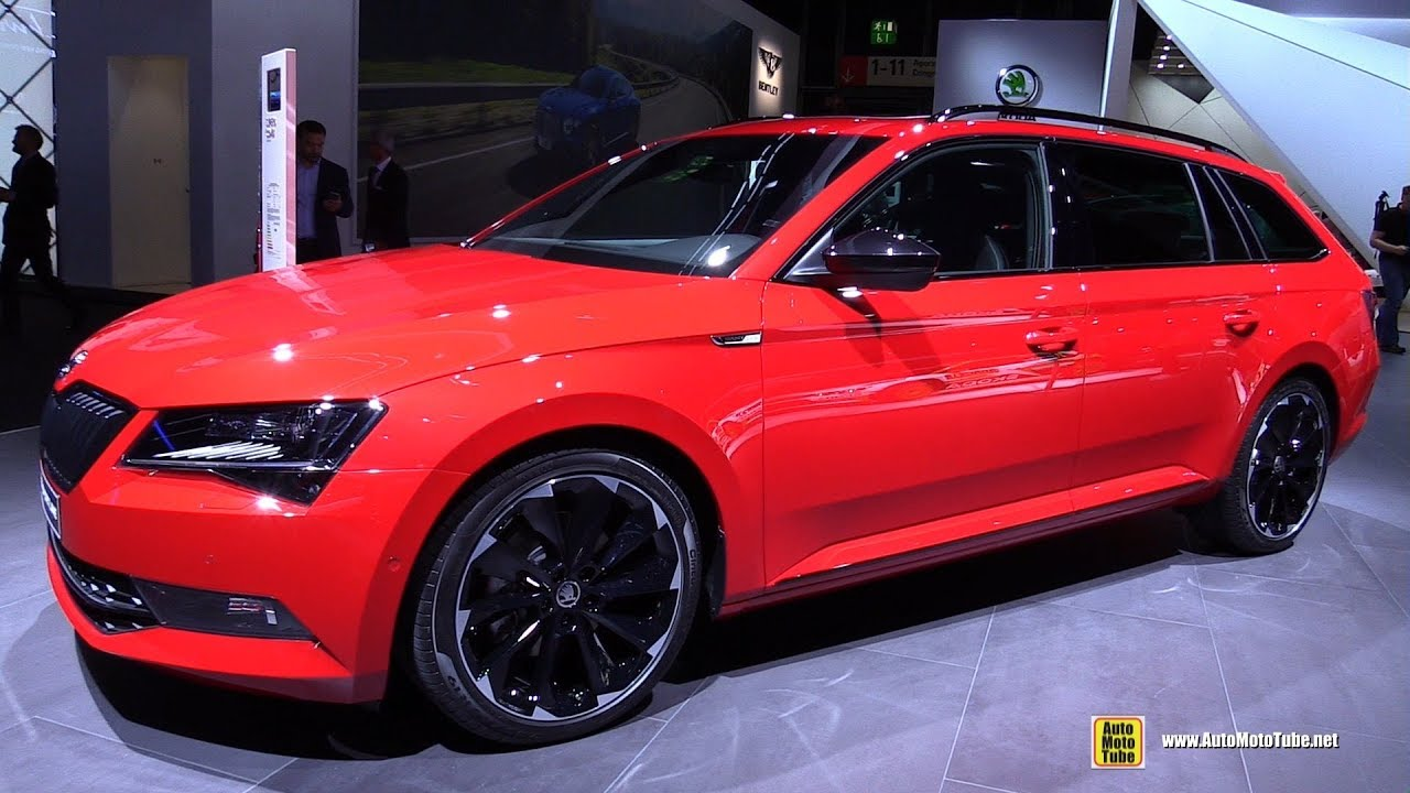2018 skoda superb combi sportline exterior and interior walkaround 2017 frankfurt auto show. Black Bedroom Furniture Sets. Home Design Ideas