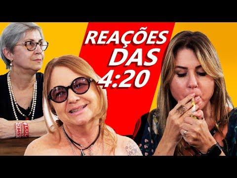 FUMEI UM COM A MINHA MÃE REAÇÕES DAS 420 DIA DAS MÃES