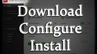 Avira Free Antivirus 2017 - how to fast download, install & configure it