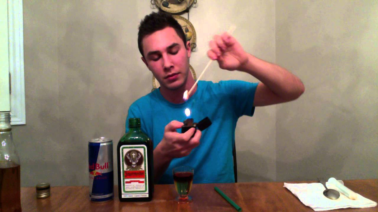 How To Make A Flaming Jagerbomb Youtube