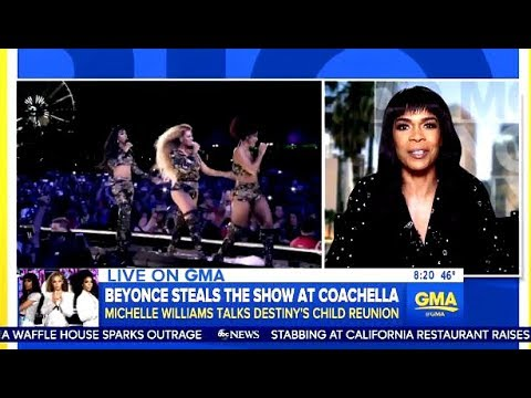 Michelle Williams Chats Reunion With Beyonce @ Coachella & Wedding Plans GMA