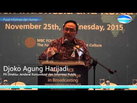 Cultural Exchange in Broadcasting Indonesia - Korea 2015
