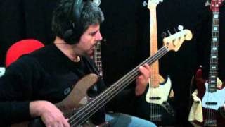 """Ray Charles & Elton John """"Sorry Seems to Be the Hardest Word"""" fretless bass line by Rino Conteduca"""