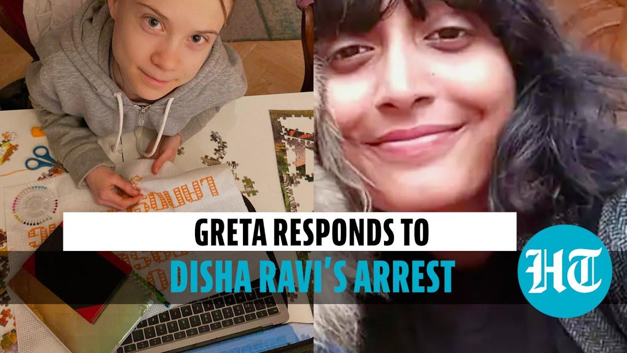 Download Greta Thunberg backs jailed activist Disha Ravi, tweets on 'human rights'