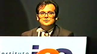 Gustavo Franco e Ciro Gomes no 13º Fórum da Liberdade (2000).
