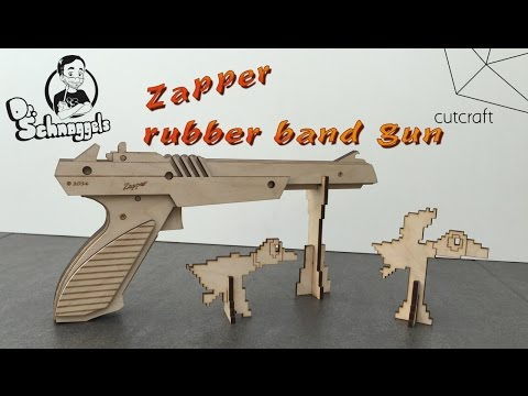 Zapper rubber band gun DIY set: powered by cutcraft