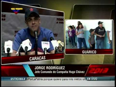 Jorge Rodríguez, jefe del Comando Hugo Chávez, rueda de prensa 14 de abril 11:50 am
