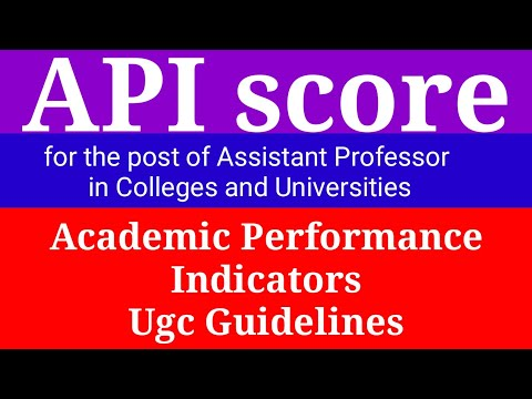 API Score For Assistant Professor || API Score Calculation By UGC
