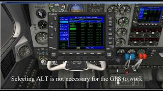 How to Enter a Flight Plan in the Garmin 530 ~ X Plane