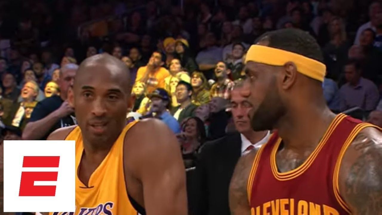 Lakers' LeBron James reacts to question asking which NBA team he ...