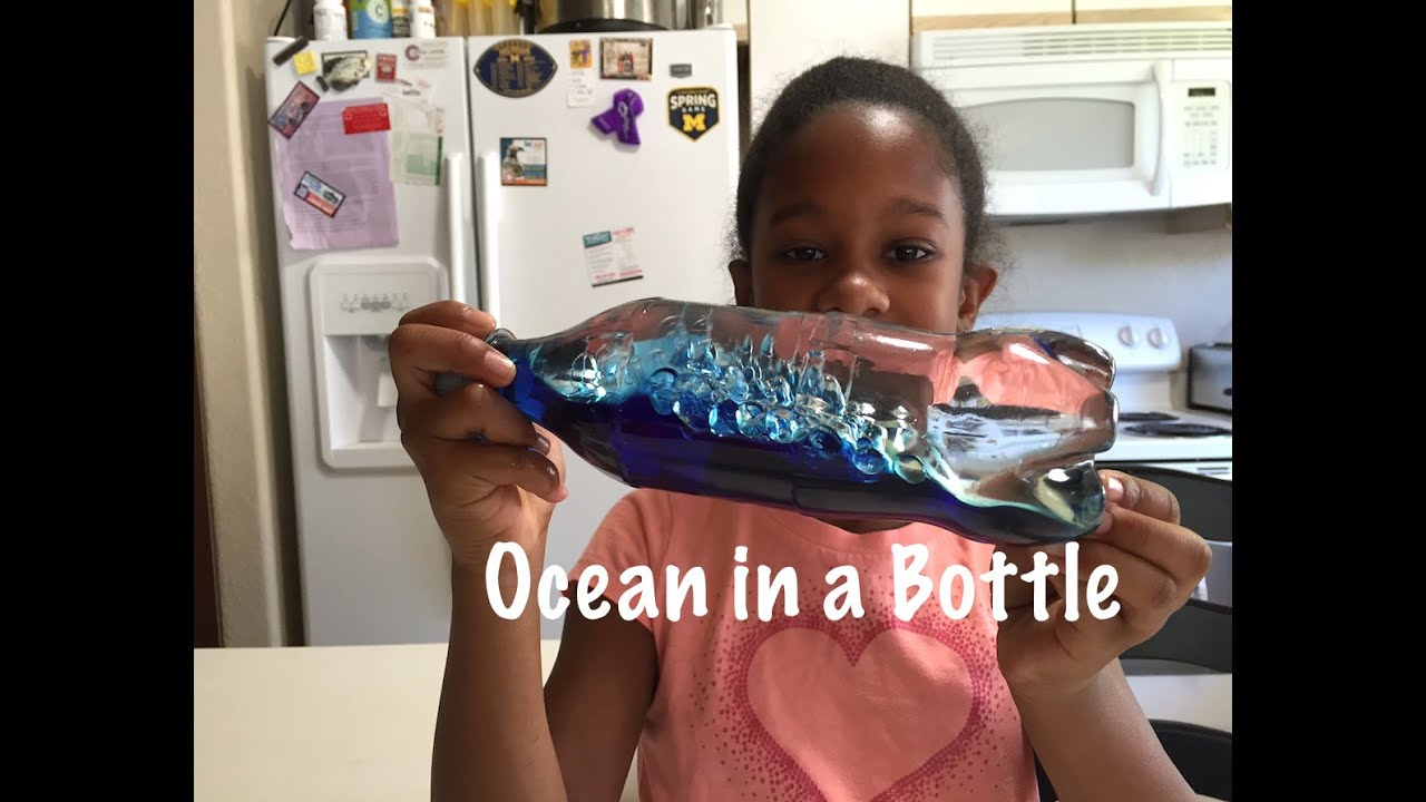 Ocean in a bottle easy science experiments for kids youtube sciox Image collections