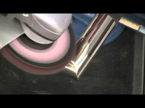 Полировка сварного шва в три этапа