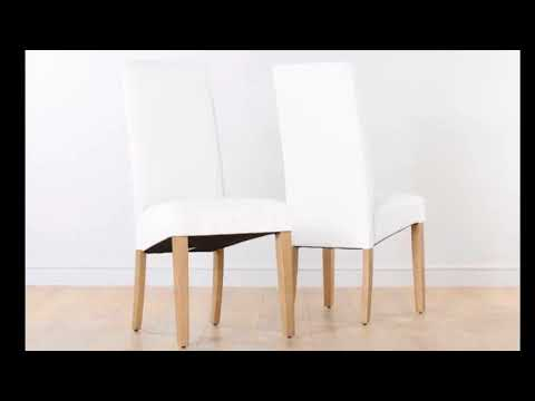 White Leather Dining Chairs - Crate And Barrel White Leather Dining Chairs| Modern Interior