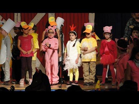 Katelyn performing in the Barnyard Moosical at her Elementary School