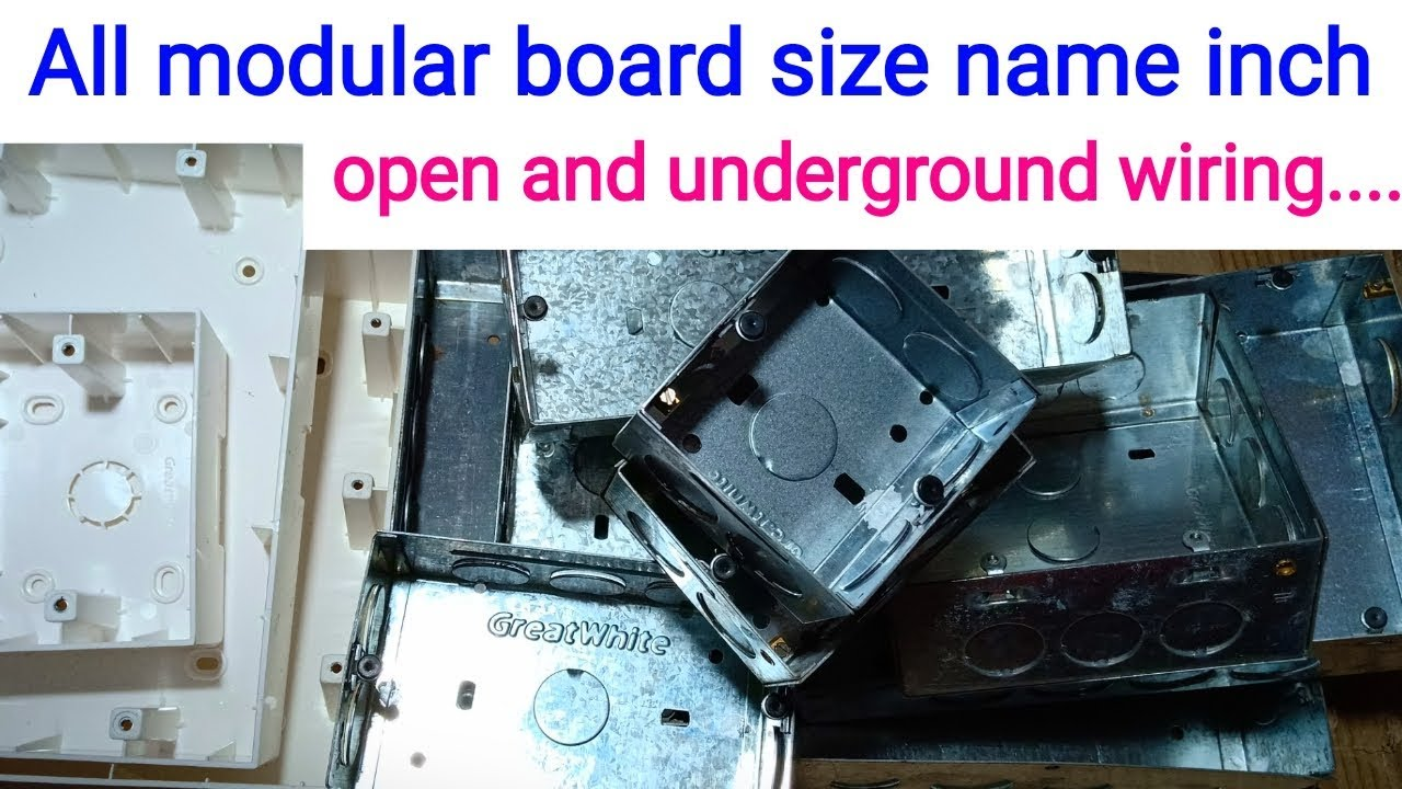 How To Modular Board All Size Name Modular Electric Board Modular Board Inch Size Name Youtube