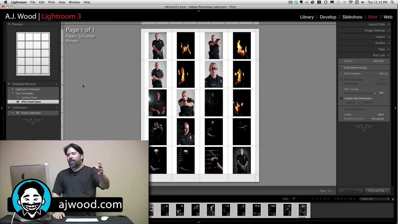 How to save a contact sheet in lightroom as jpeg