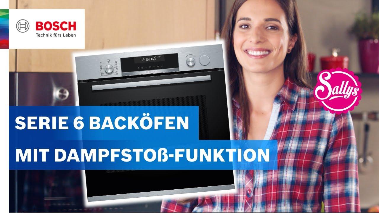 So funktioniert die Dampfstoß-Funktion bei Backöfen der Serie 6 | Bosch Neuheiten mit Sally