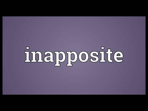 Header of inapposite