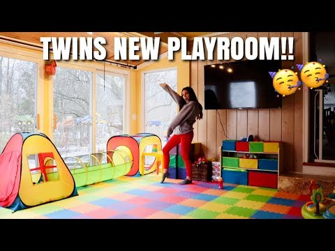 Building A CUSTOM Playroom For Our Twins!! Teen Mom Vlog