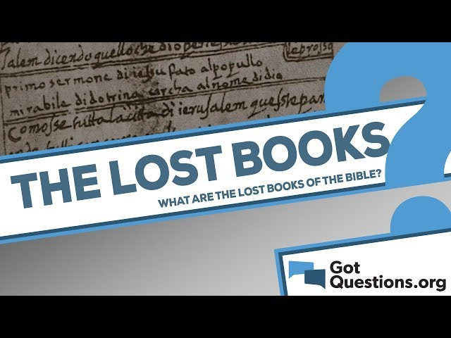 What are the lost books of the Bible?
