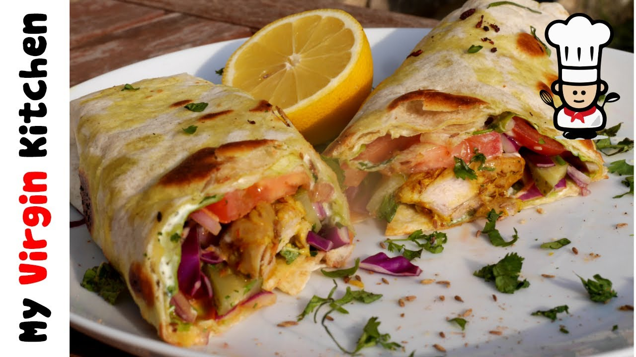 Homemade Chicken Kebab Wraps Recipe Youtube