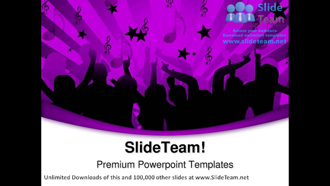 Disco Dancers Music Powerpoint Templates Themes And Backgrounds Ppt