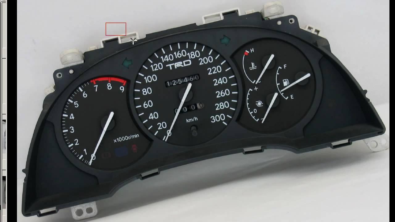 Celica Trd >> TRD 300kmh Gauge cluster Toyota celica ST205 - YouTube