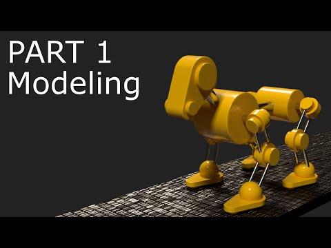 Blender Tutorial: Robot Dog Animation Part 1 - Modeling