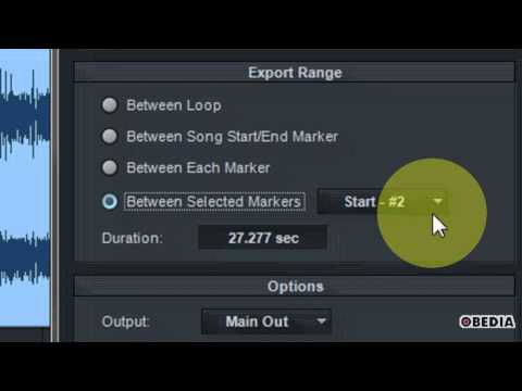 PRESONUS STUDIO ONE How to export an audio mixdown