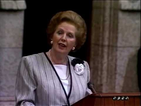 Margaret Thatcher addresses Canadian Parliament (1988)