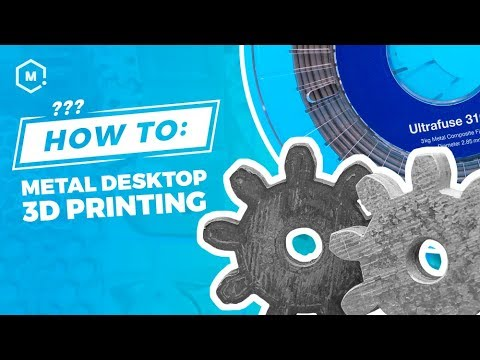 How to Succeed with 3D Printing Metal on a Desktop 3D Printer using BASF Ultrafuse 316L Filament